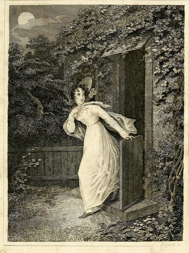 Illustration from Emily Moreland, the Maid of the Valley by Hannah Maria Jones. London, 1829