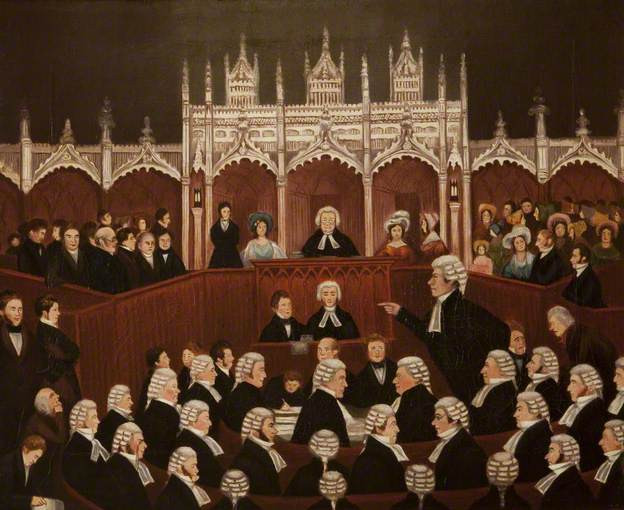 Trial of Edward Gibbon Wakefield, 1826 by Dawson Watson © Lancaster Castle; Supplied by The Public Catalogue Foundation