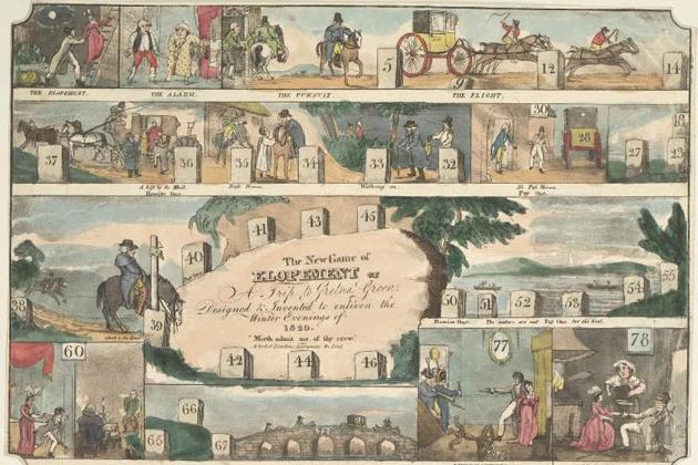 Elopement board game (1820)