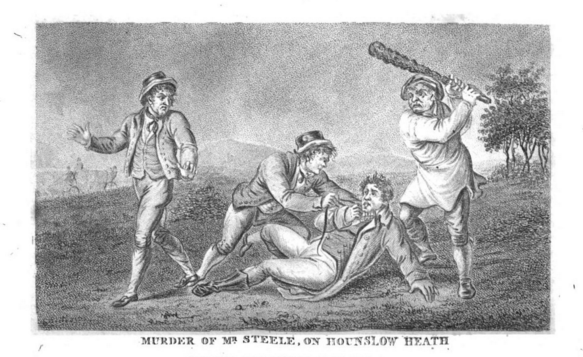 The murder of Mr Steele, from Newgate Calendar, Vol 4. Knapp and Baldwin, 1810.