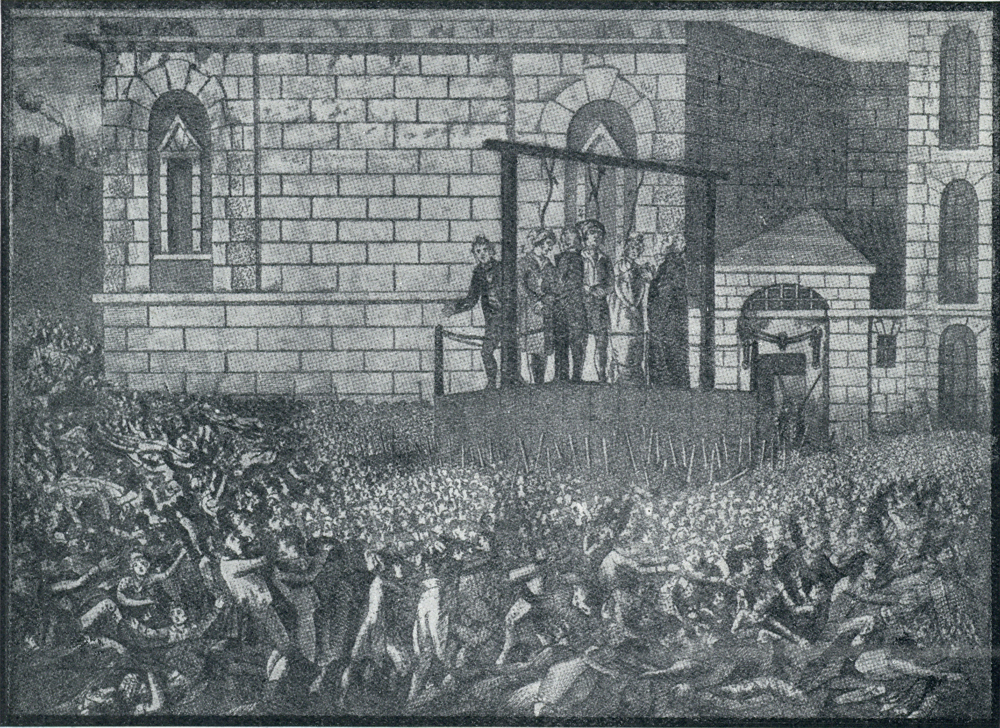 The execution of Haggerty and Holloway and Elizabeth Godfrey