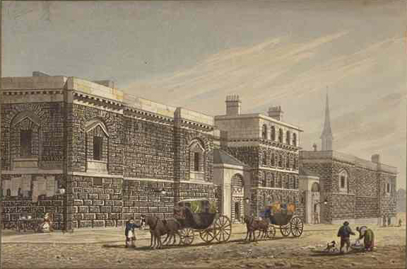 West View of Newgate West View of Newgate by George Shepherd (1784-1862). Licensed under Public Domain via Wikimedia Commons.