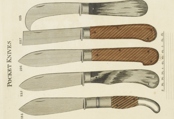 pocket knives from Smith's Key, 1816