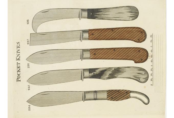 pocket knives from Smith's Key, 1816