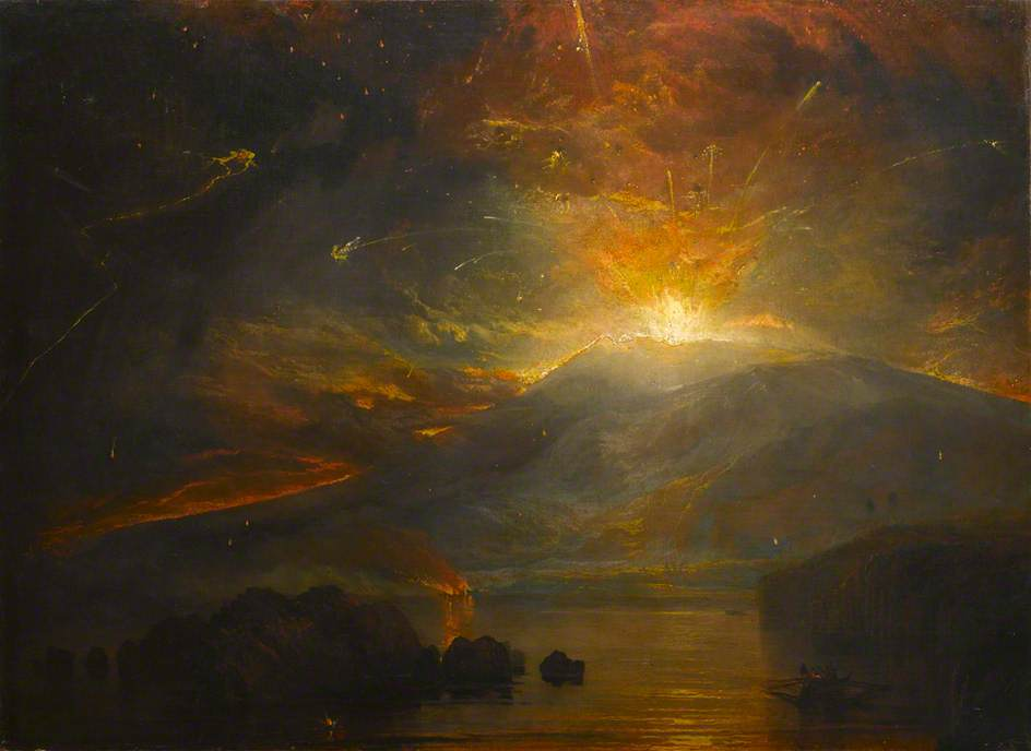 William Turner - The Eruption of the Soufriere Mountains (oil on canvas, 1815) © University of Liverpool; Supplied by The Public Catalogue Foundation