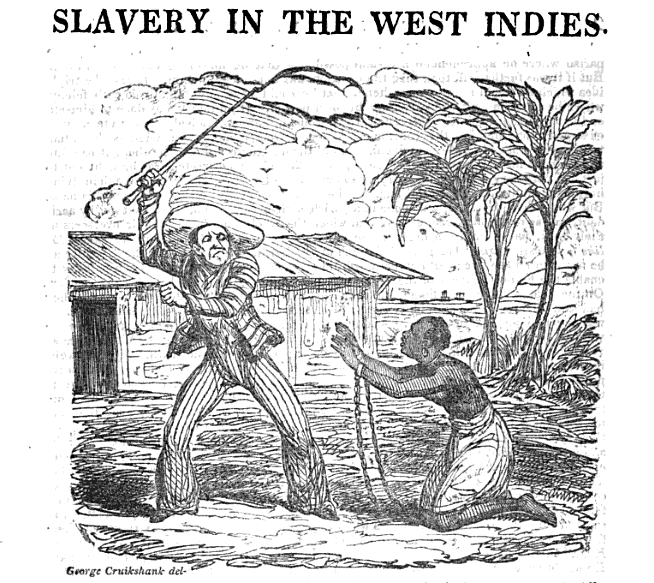 man beating slave in the west indies