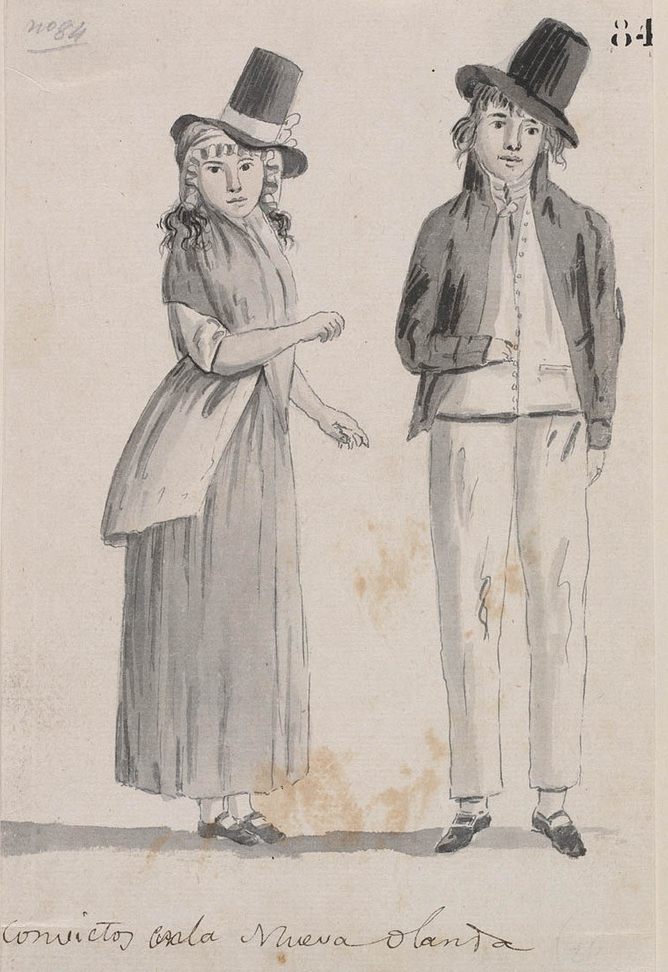 drawing of convicts in australia