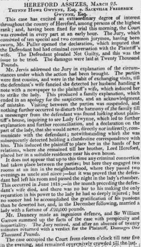 Bristol Mercury, 29 March 1819 © THE BRITISH LIBRARY BOARD