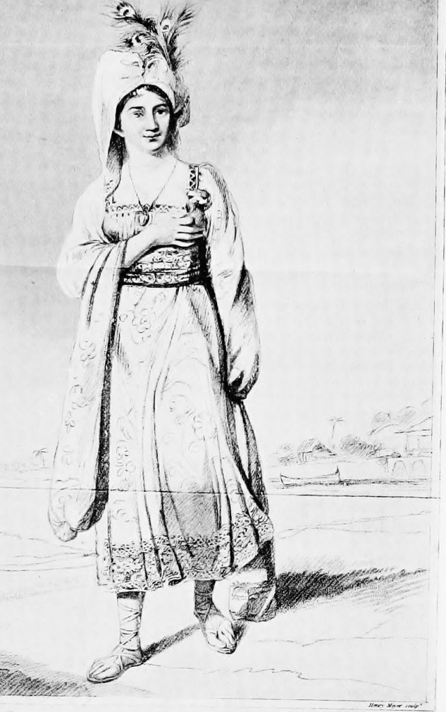 """Princess Caraboo"", from an engraving by Henry Meyer, after a picture by Edward Bird"