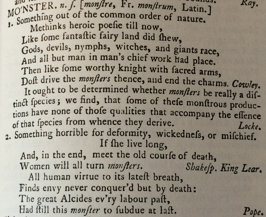 From A Dictionary of the English Language by Samuel Johnson (1773)