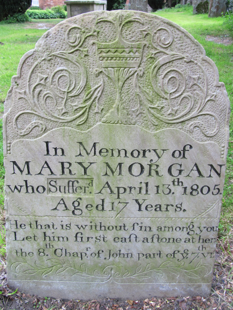 The alternative gravestone erected for Mary Morgan. Courtesy of Find a Grave