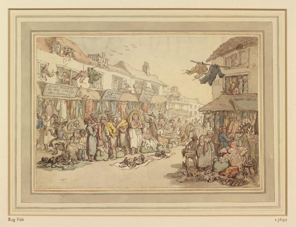 Thomas Rowlandson: Rag Fair, c. 1800. Royal Collection Trust © Her Majesty Queen Elizabeth II 2016