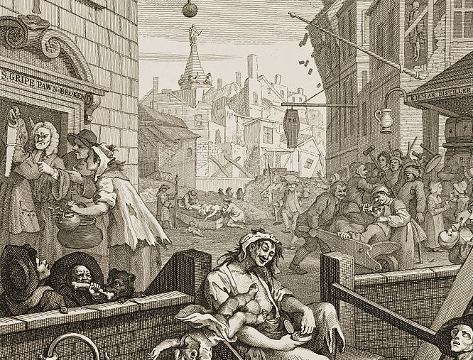 Gin Lane, by William Hogarth 751)