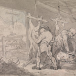 Thomas Rowlandson, Butchers at work. Watercolour. Courtesy of Yale Center for British Art, Paul Mellon Collection