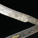 Cut-throat steel razor, owned by Lord Nelson, England Credit: Science Museum, London. Wellcome ImagesCopyrighted work available under Creative Commons Attribution only licence CC BY 4.0 http://creativecommons.org/licenses/by/4.0/