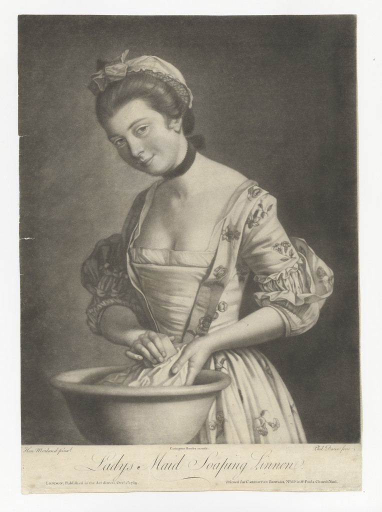 Lady's Maid Soaping Linen, 1769. After Henry Robert Morland, 1730–1797. Courtesy of Yale Center for British Art, Paul Mellon Collection