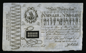 The birth of the British pound note and the fate of Sarah Bailey