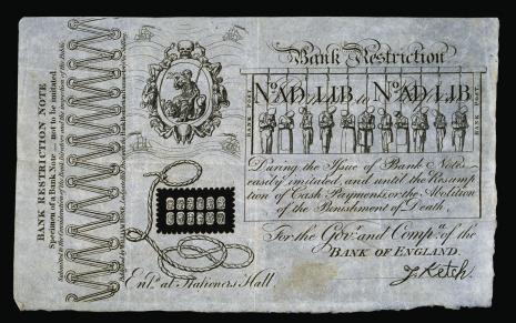 George Cruikshank, Bank Restriction Note (1819)