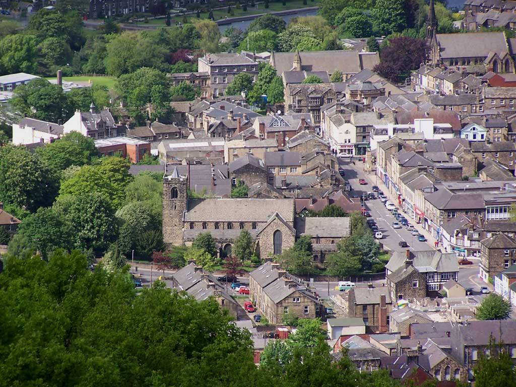 An overview of Otley, West Yorkshire (2006). Licensed under the Creative Commons Attribution-Share Alike 2.0 Generic license.