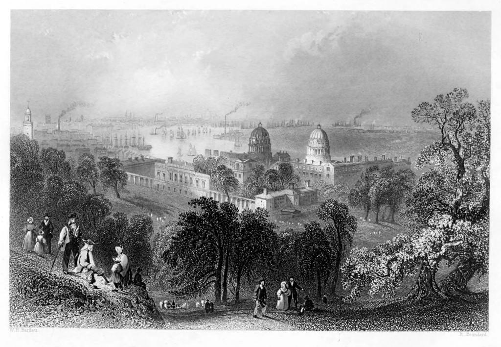 A view of the City from Greenwich Park. From William Finden, The Ports, Harbours, Watering-places and Picturesque Scenery of Great Britain Vol. 2. (London: James S. Virtue 1842)