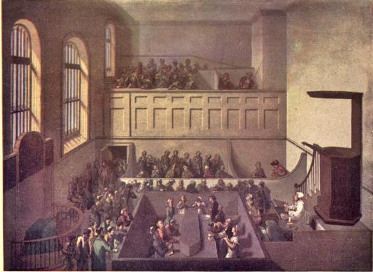 Newgate Chapel, from Microcosm of London; or, London in miniature