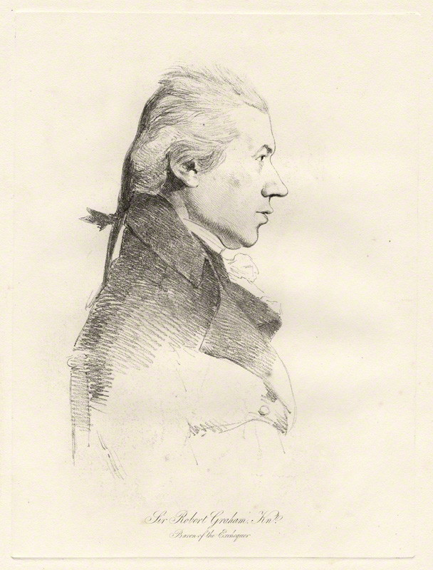 Sir Robert Graham (1744-1836) by William Daniell, after George Dance, soft-ground etching, published 1854?