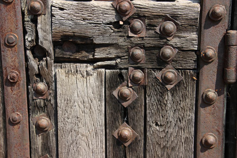 Detail of the Newgate door