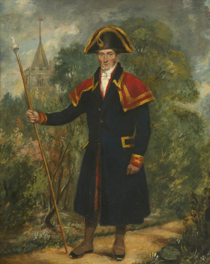 Samuel Bowstead, Parish Beadle by an unknown artist (1846). © Fulham Palace Art Collection