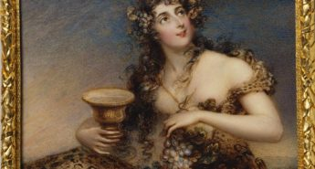 Lady Abdy as a Bacchante by Mrs Joseph Mee, 1813, painted for George IV when Prince Regent. Royal Collection Trust/© Her Majesty Queen Elizabeth II 2016