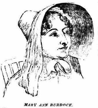 Mary Ann Burdock, Bristol Mirror, 18 April 1835