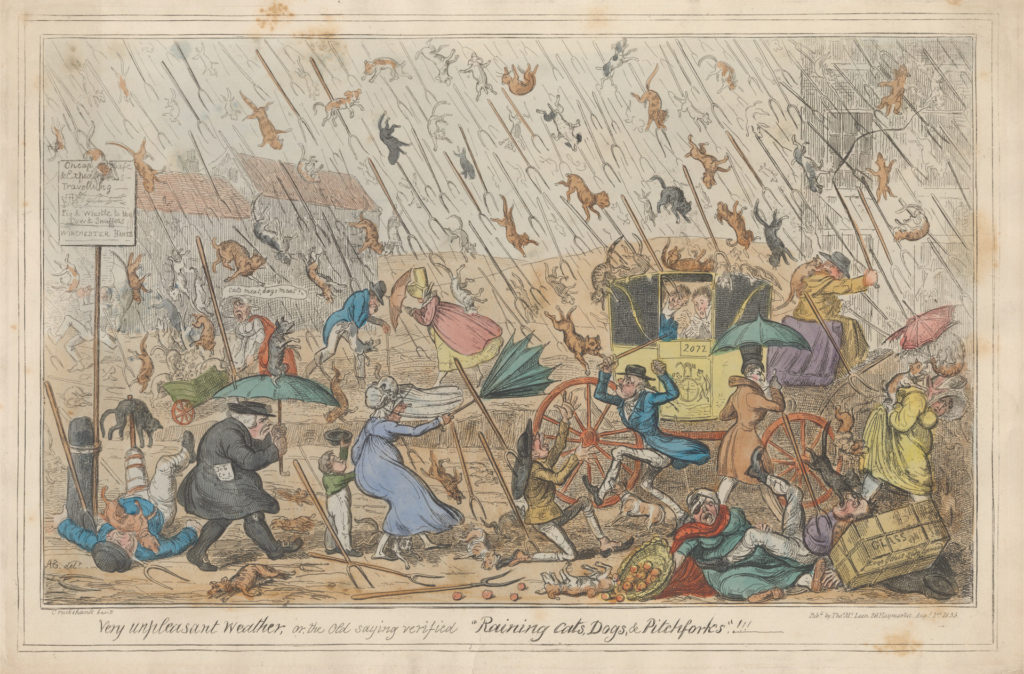 cruikshank very unpleasant weather 1835