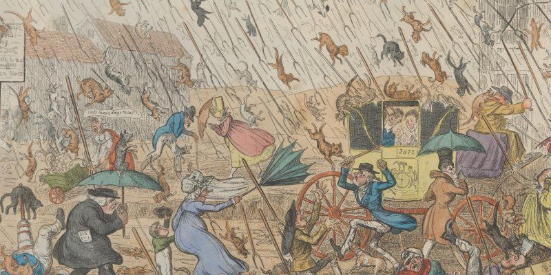 cruikshank very unpleasant weather 1835