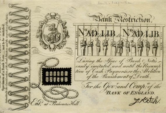 The birth of the pound note and the fate of Sarah Bailey
