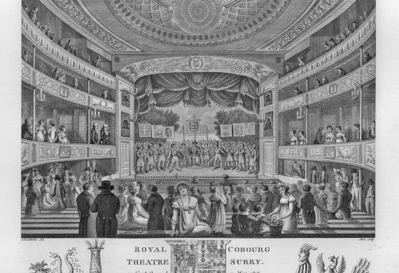 The opening night of the Royal Coburg Theatre, 11 May 1818