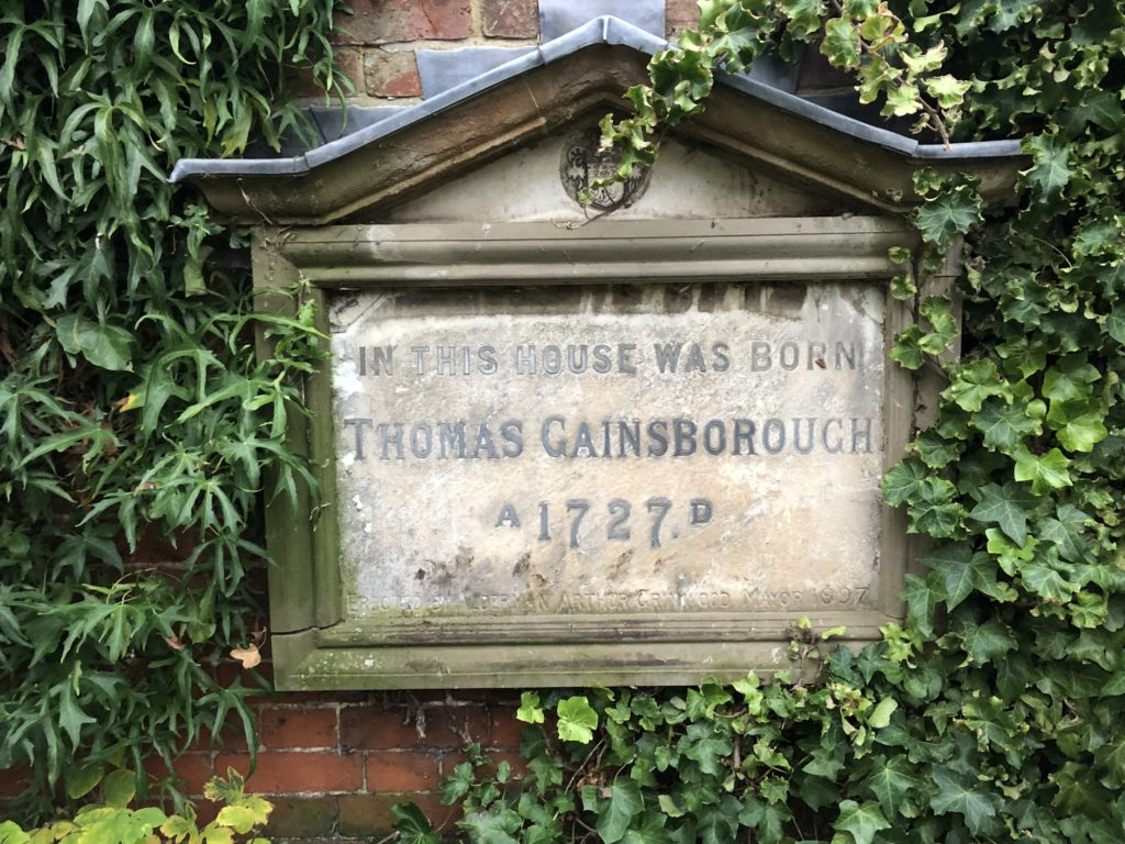 gainsborough's house plaque