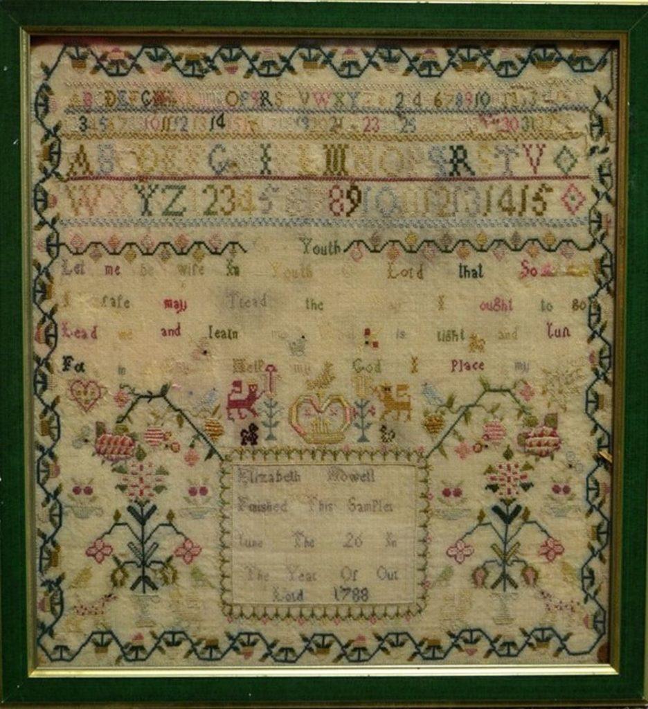 18th century sampler