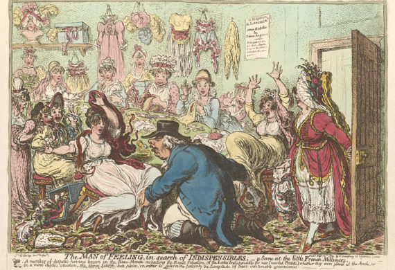 gillray cartoon of seamstresses